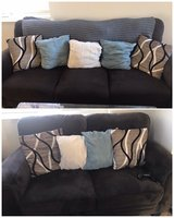 Brown couch and love seat in Vacaville, California