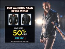 Walking Dead Motorcycle Morgan Negan Leather Jacket in Algonquin, Illinois