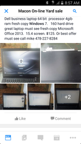 Dell business laptop in Byron, Georgia
