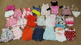 Lot of Baby Girl 0-3 month spring and summer clothes GYMBOREE, TOMMY HILFIGER,  CARTERS in Bartlett, Illinois