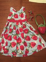 Girls Gymboree size 5 strawberry dress, purse and hair clips in Perry, Georgia