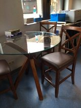 Tall Glass Top Table & Chairs in Ramstein, Germany