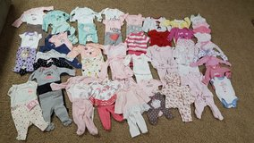 Lot of baby girl clothes size newborn - 6 months in Bartlett, Illinois