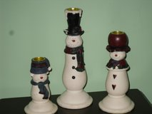 snowman candlesticks in Aurora, Illinois