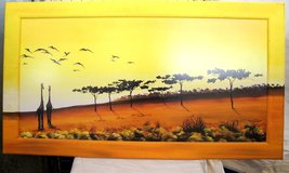 Africa painting with giraffes in Ramstein, Germany