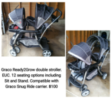 Graco Ready2Grow double stroller in Glendale Heights, Illinois