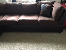 Brown Microfiber Sectional in Fort Lewis, Washington