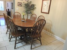 Solid Oak Table and Six Chairs in Perry, Georgia