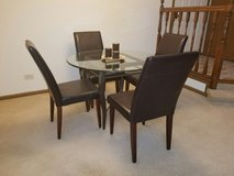 """42"""" Round Glass Top Dining Table and Chairs in Bolingbrook, Illinois"""