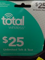 25$ Total Wireless Phone Card in Alamogordo, New Mexico