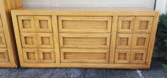 Vintage Long Dresser- 9 Drawers THOMASVILLE - $75 in Bolingbrook, Illinois