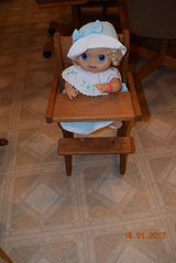 Baby Doll High Chair wood for pickup JOLIET, IL 60435 in Bolingbrook, Illinois