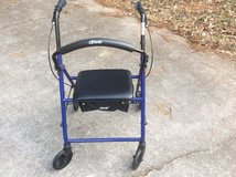 Walker with seat and back support in Macon, Georgia
