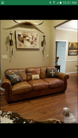 High Grade Leather Sofa and Loveseat in Conroe, Texas