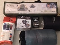 Camping Gear: Tent, cookware, sleeping bag, pillow, stuff sack, head lamp in Bolling AFB, DC