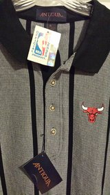 Chicago Bulls NBA logo Official Licensed polo/golf shirt new with tags in Elgin, Illinois