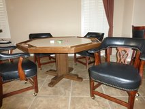 Card table and club chairs in Phoenix, Arizona