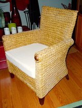 Rattan Wicker Side Accent Chair in Glendale Heights, Illinois