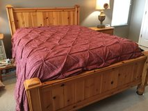 Crate n Barrel Queen bed, armoire, side table and tallBoy in Naperville, Illinois