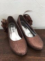 Bronze Glitter Shoes - Child 12 in Okinawa, Japan