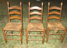 THREE (3) ANTIQUE LADDER BACK CHAIRS in Cherry Point, North Carolina