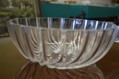 Clear Glass Serving Bowl with Swirl Design in Warner Robins, Georgia