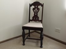 Vintage Wood Chair w/Carved Wood Scroll Design in Naperville, Illinois
