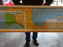 Vintage US wall map in Bolingbrook, Illinois