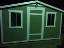 10 by 14 wood garden shed in Fort Irwin, California
