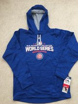 NEW Limited Edition Authentic Majestic Cubs World Series Streak Hoodie in Lockport, Illinois