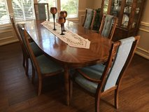 Oak Dining Table, 6 chairs, and China Cabinet in Kingwood, Texas