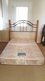 Full size mattress with headboard in Fort Rucker, Alabama