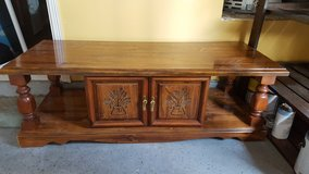 "Solid Wood Coffee Table/TV Console 20""x20""x47.5"" in Kingwood, Texas"