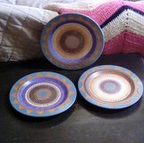 3 Hand Decorated Navajo Plates in Ruidoso, New Mexico