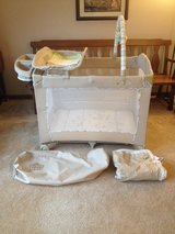 LIKE NEW Pack & Play w/ changing table, tray, mobile, etc. in Batavia, Illinois