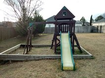 Outdoors Cedar Play Set with Slide and Monkey Bars in Warner Robins, Georgia