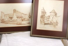 Pictures/drawings of the history of Kaiserslautern in Ramstein, Germany