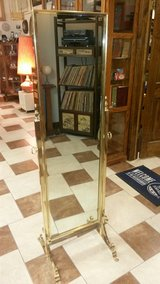Guilt Brass Cheval Floor Mirror in Fort Leonard Wood, Missouri