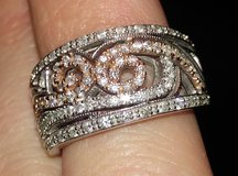 White Gold Band with rose gold in Conroe, Texas
