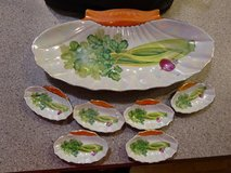 Antique Celery Dish with Salts in Bolingbrook, Illinois