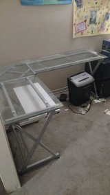 Glass desk in Alamogordo, New Mexico
