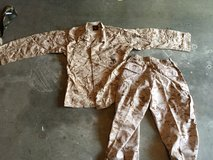 Set of Desert Cammies Medium Regular and Medium Long. in Camp Pendleton, California