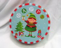 Collectible Greenbrier International Happy Elf Tin Christmas Holly Empty in Kingwood, Texas