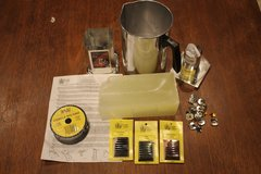 Candle Making Supplies incl. Wax, Forms, Wicking, Color, Pot - Used and New in Batavia, Illinois