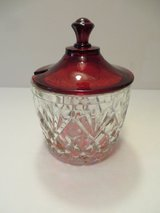 BEAUTIFUL VINTAGE Sugar, Jam Condiment Ruby Red Covered Bowl in Westmont, Illinois