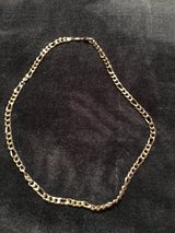 14k white gold plated Cuban men's necklace in Ramstein, Germany