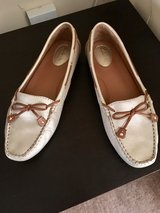 """Clark's Artisan Collection """"gold"""" loafers in Lakenheath, UK"""