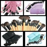 32 PCS Professional makeup Cosmetic Brush Set With Case in Hinesville, Georgia