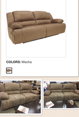 Long couch recliner new and unused comes with table and chairs in Lawton, Oklahoma
