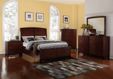 NEW 4 PC QUEEN STORAGE BED SET in San Bernardino, California